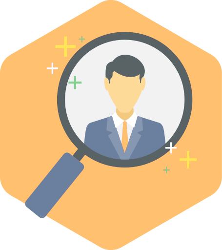 Magnifier focusing customer success