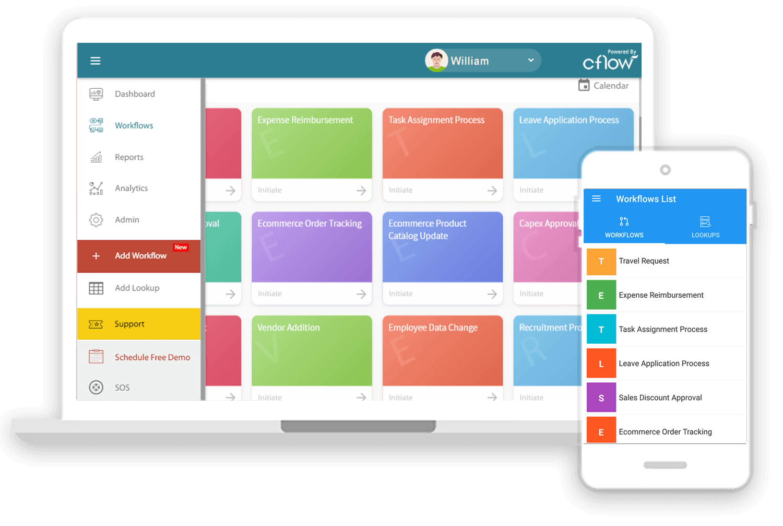 Cflow desktop and mobile app