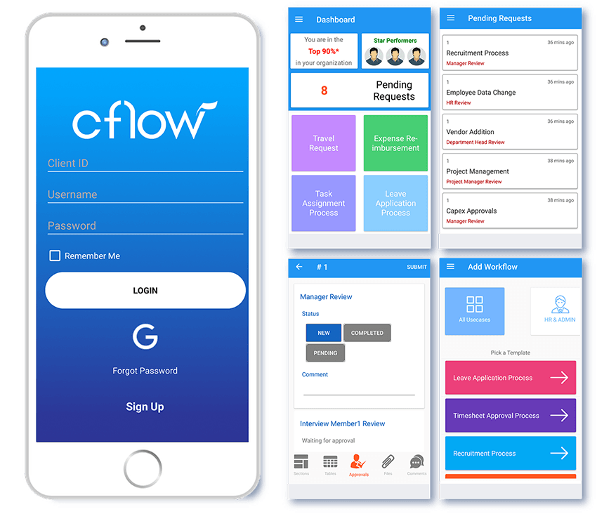 workflow mobile app for android & ios